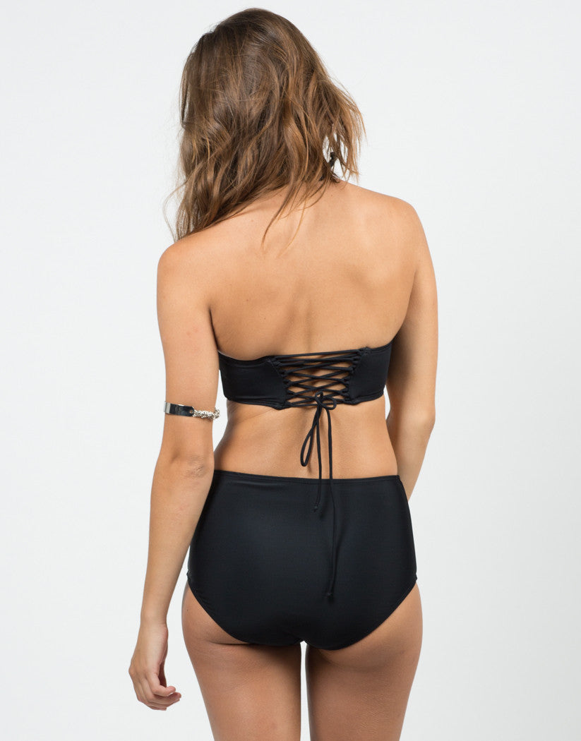 Back View of Bustier Bikini Set