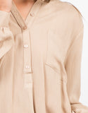 Detail of Button Down Tunic Blouse