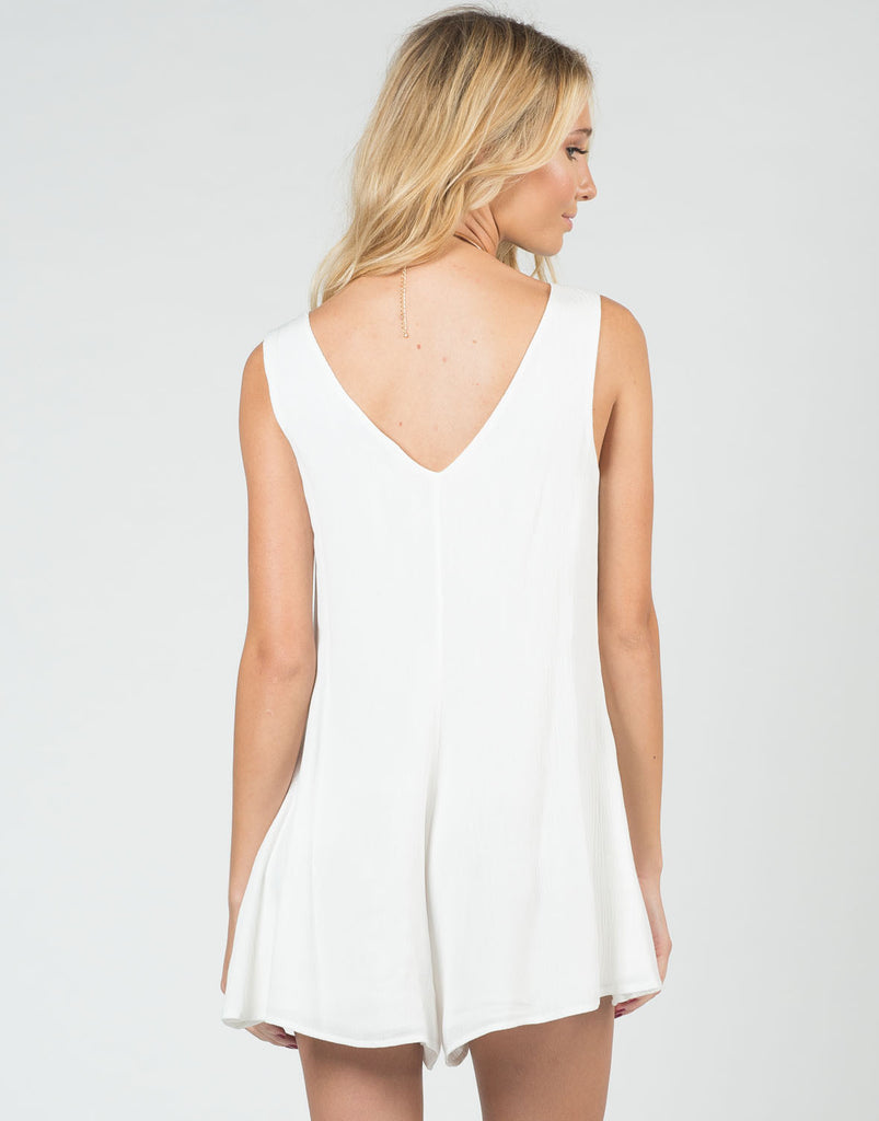 Back View of Buttoned Down Romper