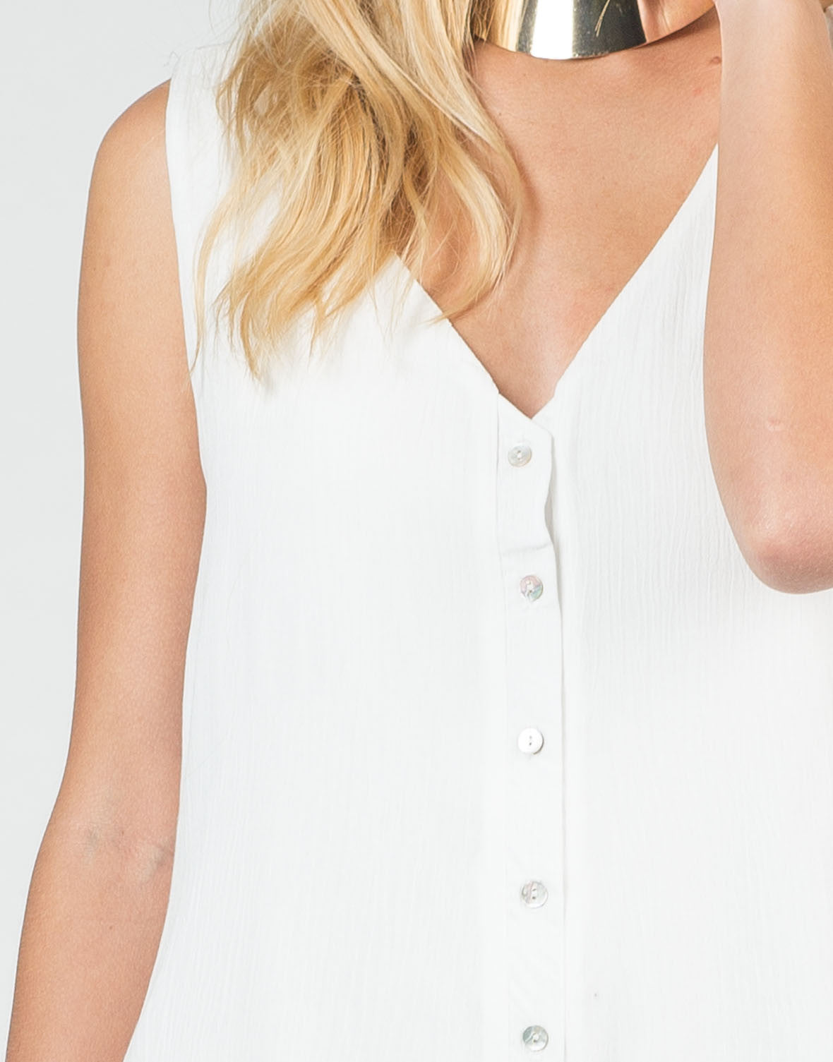 Detail of Buttoned Down Romper