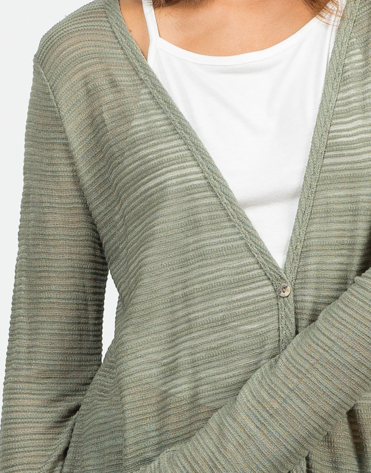 Detail of Buttoned Front Cardigan
