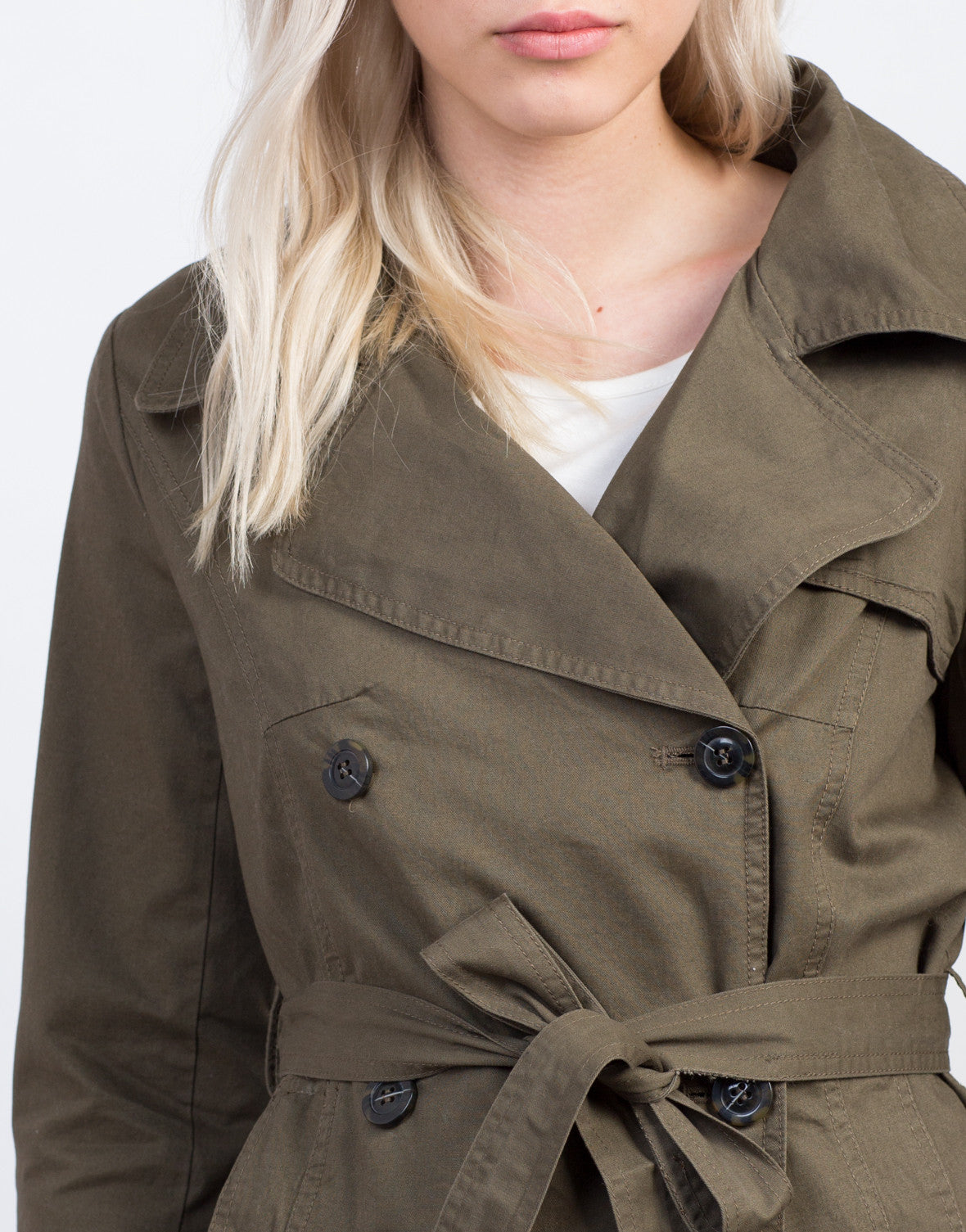 Detail of Buttoned Front Utility Jacket