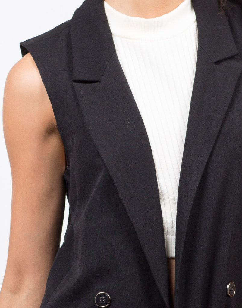Detail of Detail of Buttoned Long Vest