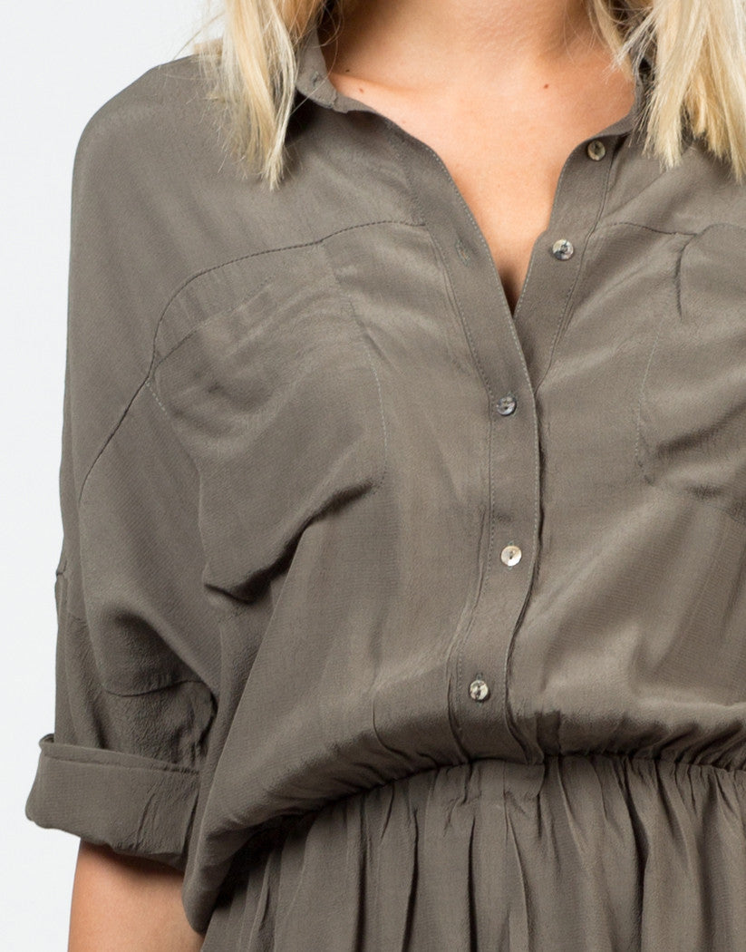 Detail of Buttoned Shirt Romper