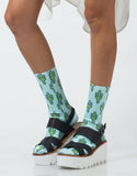 Front View of Cactus Crew Socks
