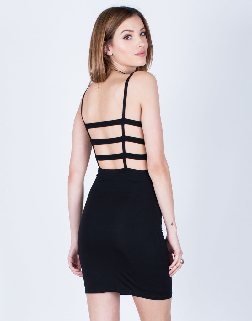 Caged Back Party Dress Dresses -2020AVE