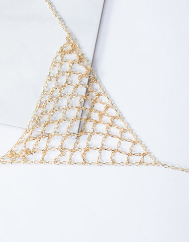 Gold Caged in Body Chain - Detail