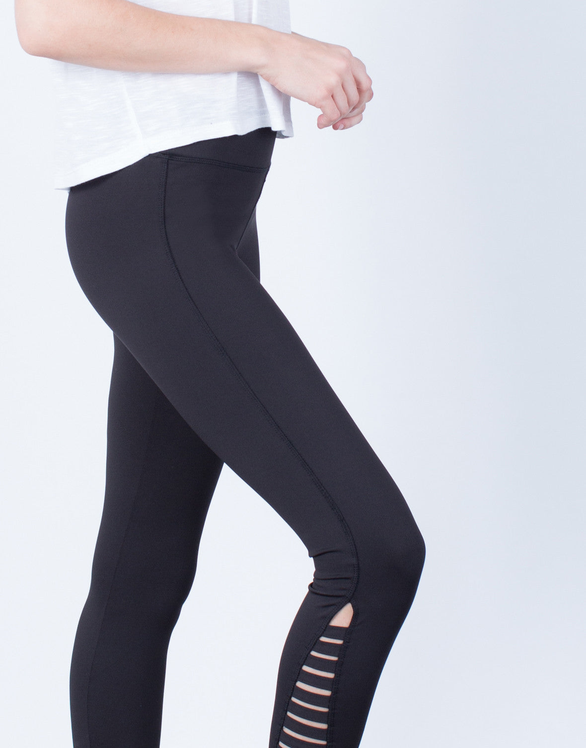 Detail of Caged Sides Leggings