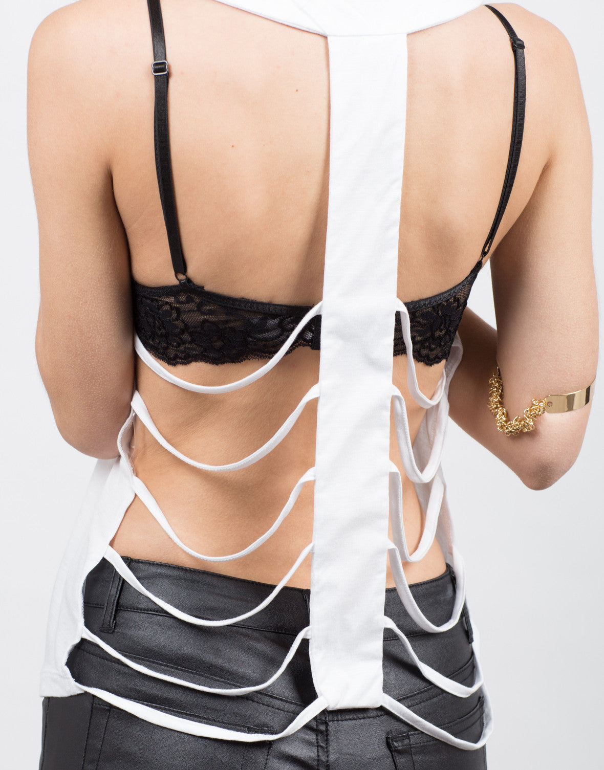 Detail of Caged Back Top