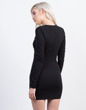 Back View of Caged Front Party Dress