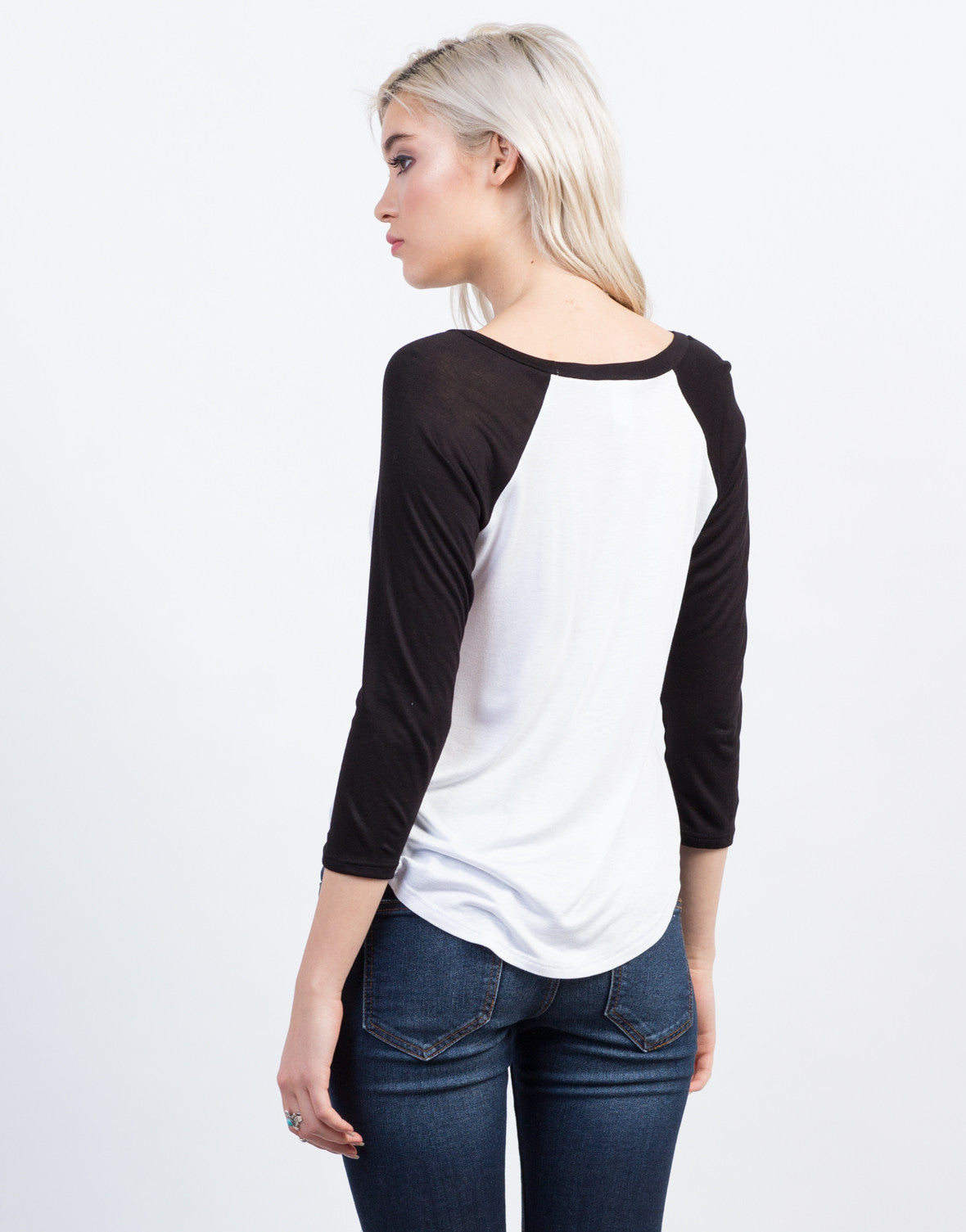 Back View of California Baseball Tee
