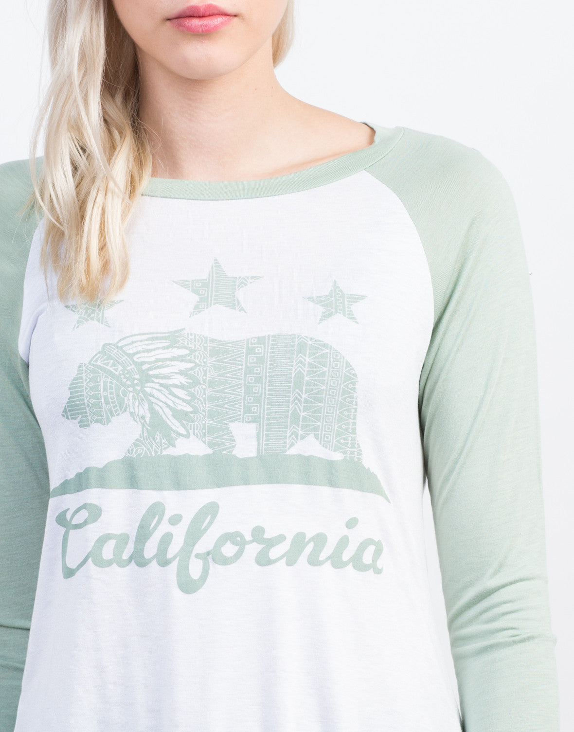 Detail of California Baseball Tee