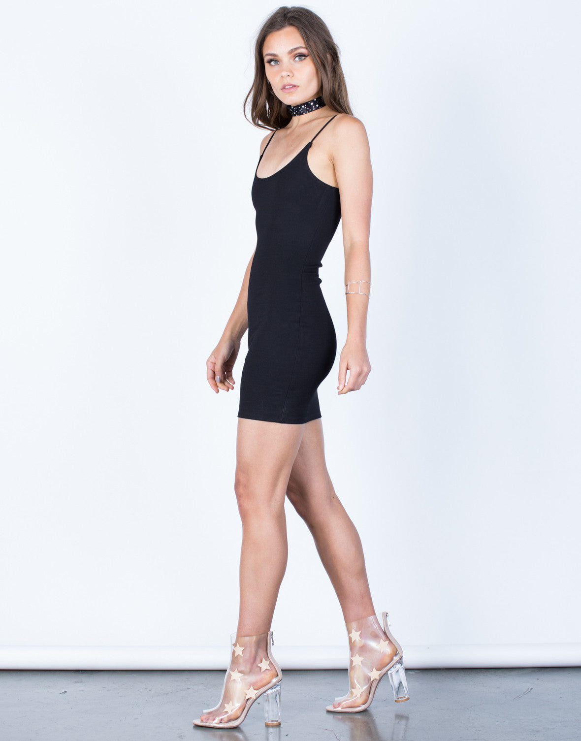 Side View of Cami Bodycon Dress