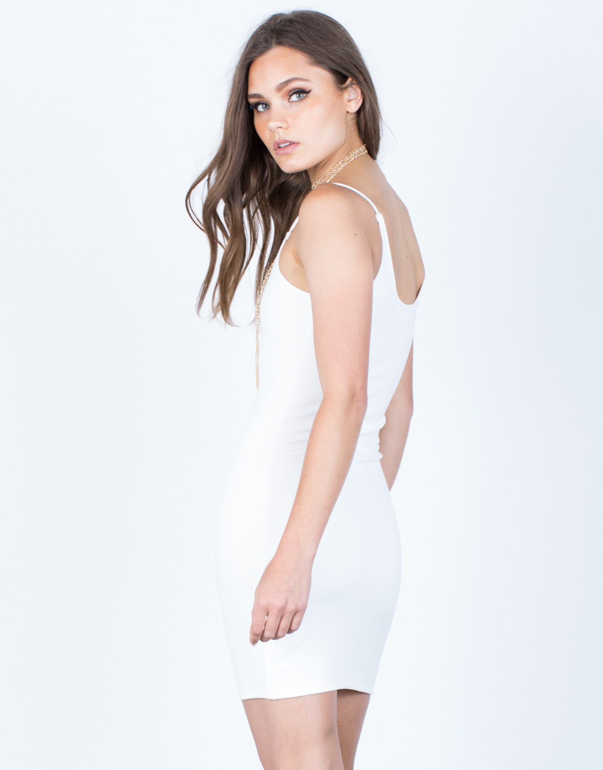 Back View of Cami Bodycon Dress