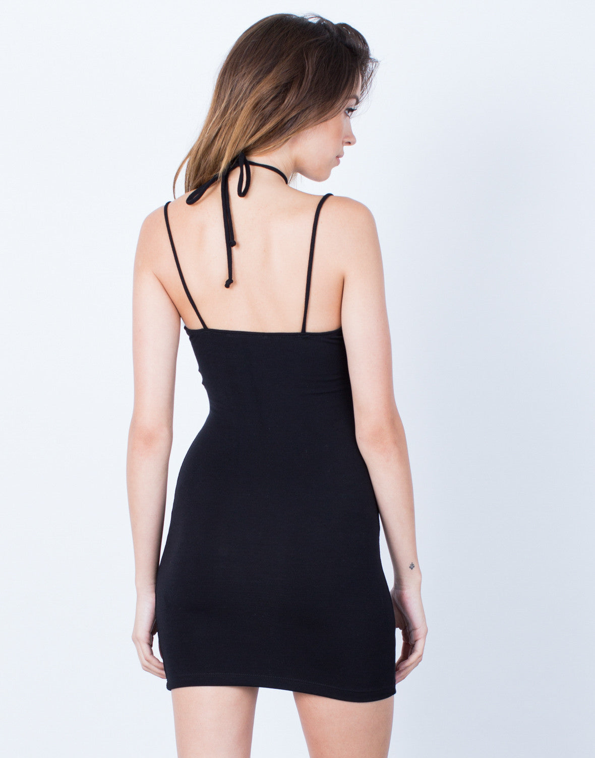 Back View of Cami Choker Dress