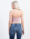 Back View of Cami Lace Up Top