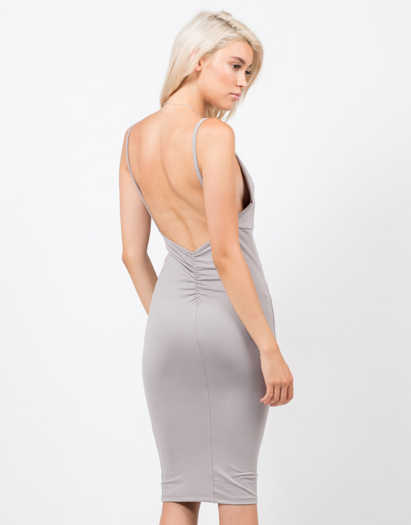 Back View of Cami Strap Bodycon Dress