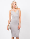 Front View of Cami Strap Bodycon Dress