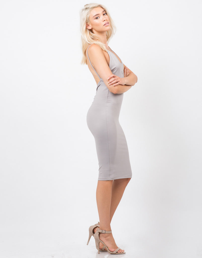 Side View of Cami Strap Bodycon Dress