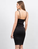 Back View of Cami Strap Midi Dress