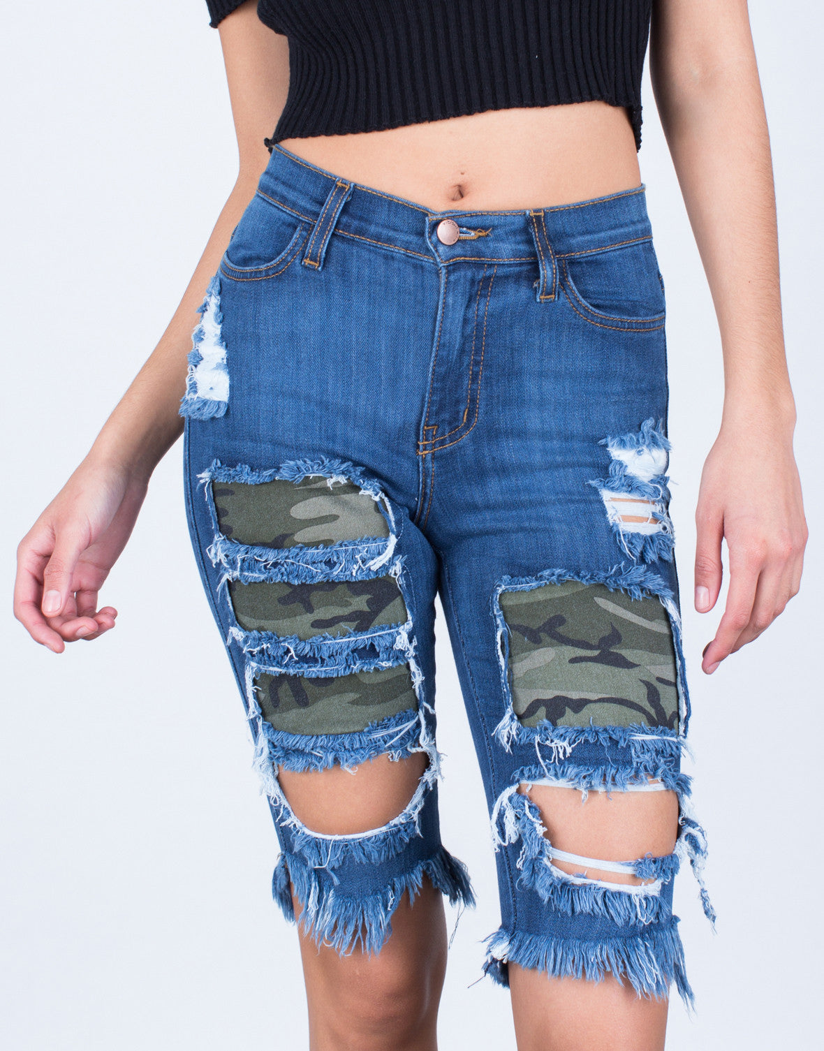 Camo Patched Bermuda Shorts - 2020AVE