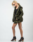 Side View of Camo Hoodie Jacket