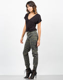 Side View of Camo Jogger Pants