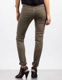 Back View of Cargo Pocket Skinny Denim Pants