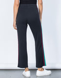 Black Caribbean Striped Pants - Back View