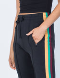 Black Caribbean Striped Pants - Detail
