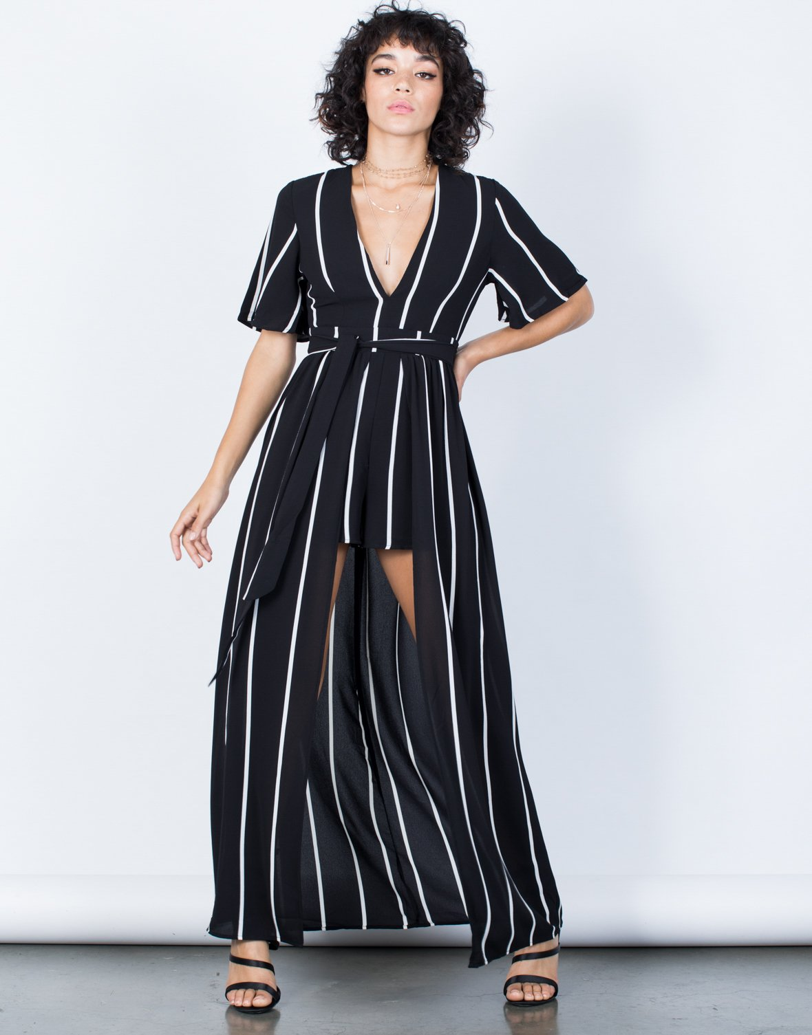 Carina Striped Maxi Romper