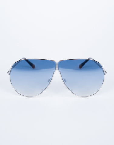 Blue Carmen Shield Sunnies - Front View