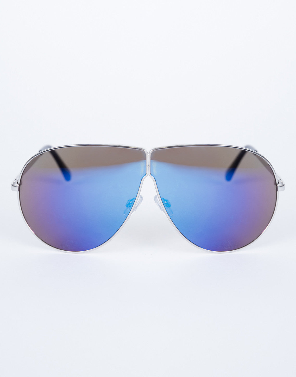Purple Carmen Shield Sunnies - Front View
