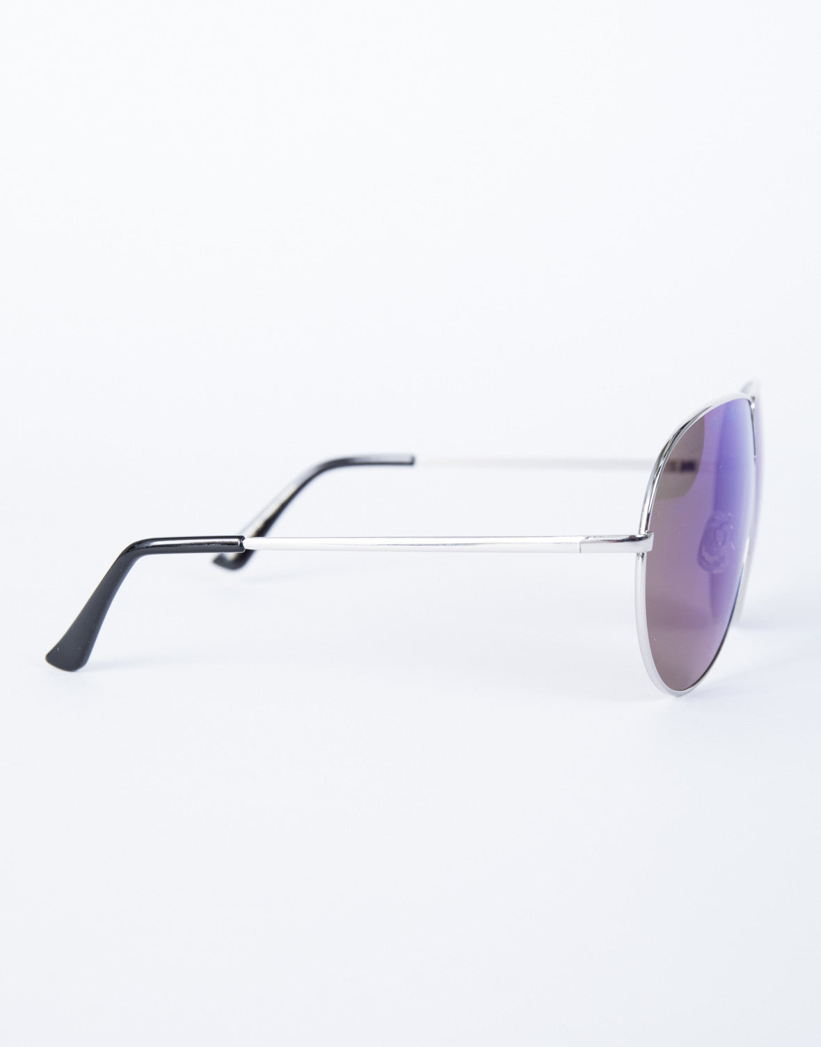 Purple Carmen Shield Sunnies - Side View