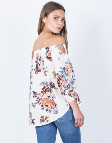 Back View of Caroline Floral Blouse