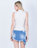 Back View of Casual Knit Tank