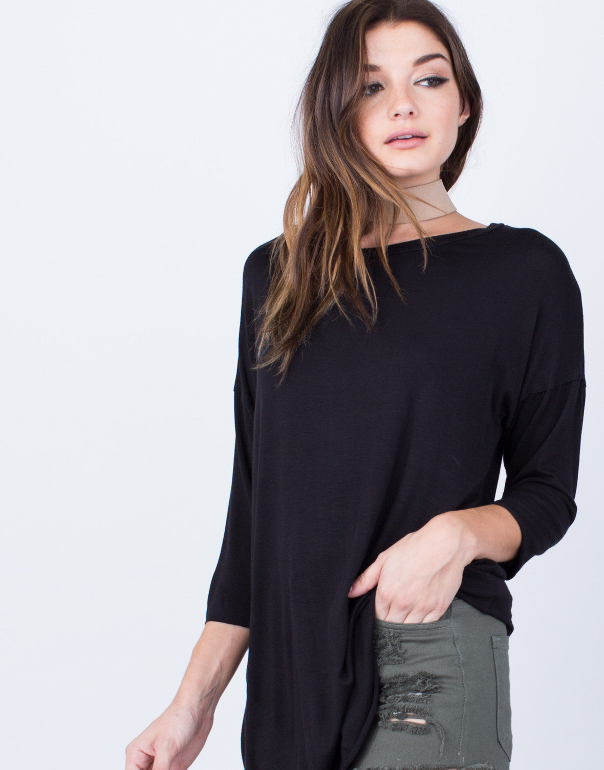 Detail of Casual Oversized Tunic Top