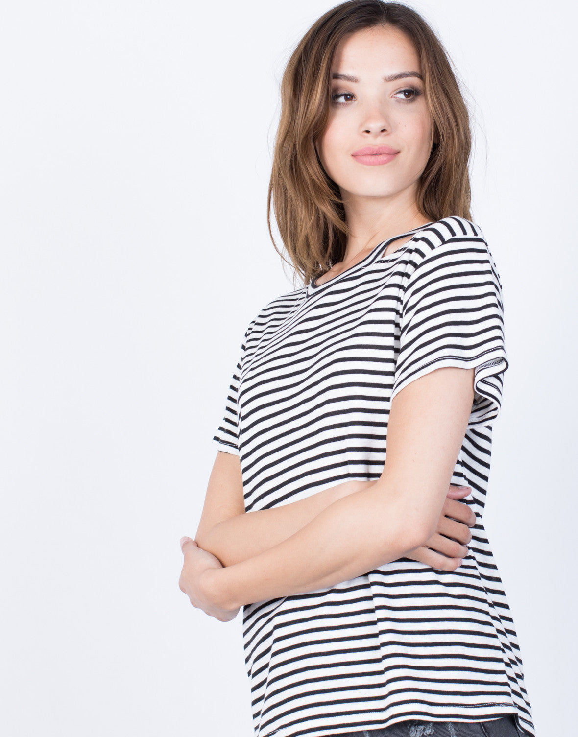 Detail of Casual Striped T-Shirt