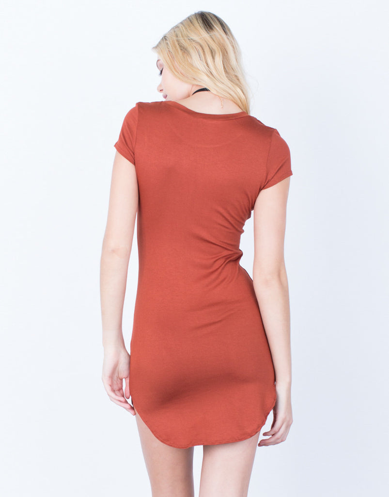 Back View of Casual Tee Dress