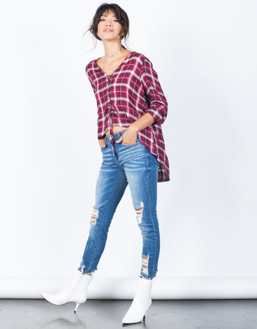 Casual Vibes Plaid Top