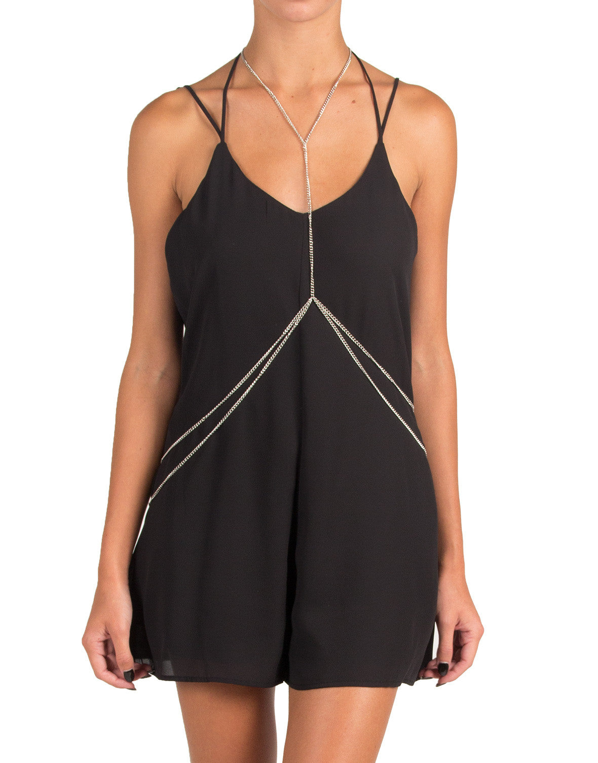 Centered Double Drape Body Chain