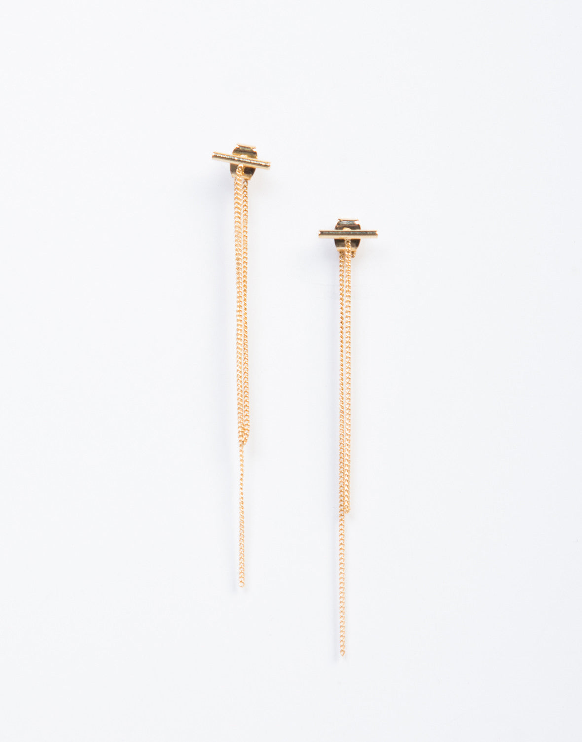 Chained Bar Earrings