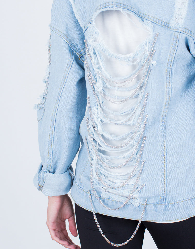 Detail of Chained Denim Jacket