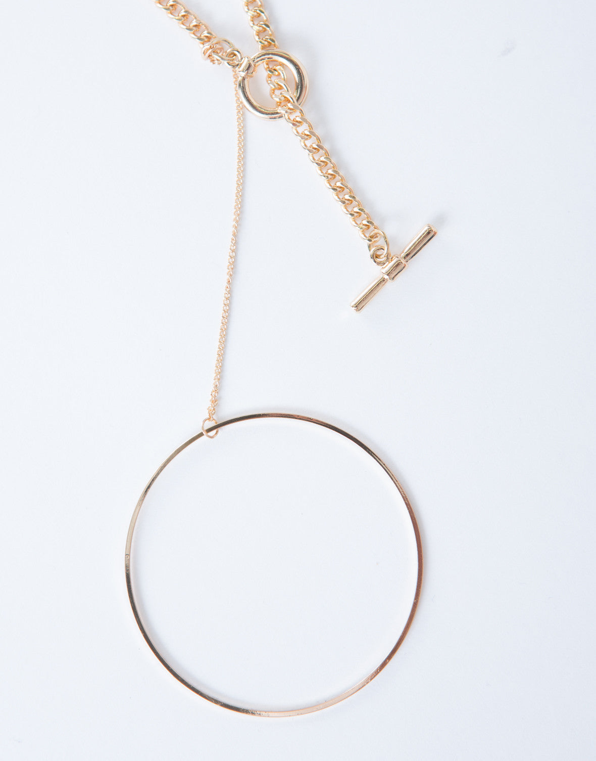 Chained Hoop Necklace