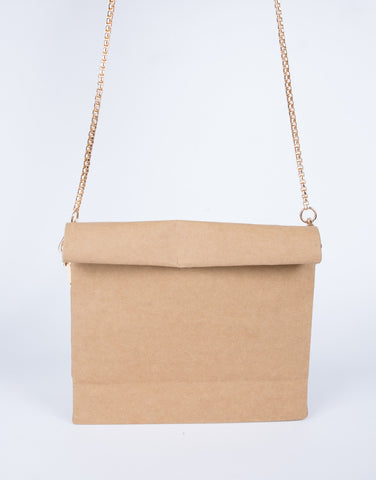 Chained Paper Crossbody Bag