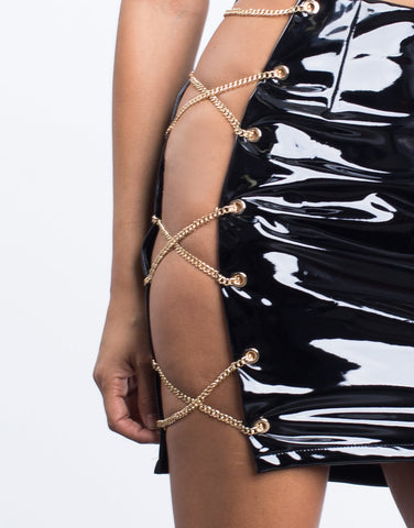 Chained Together Mini Skirt