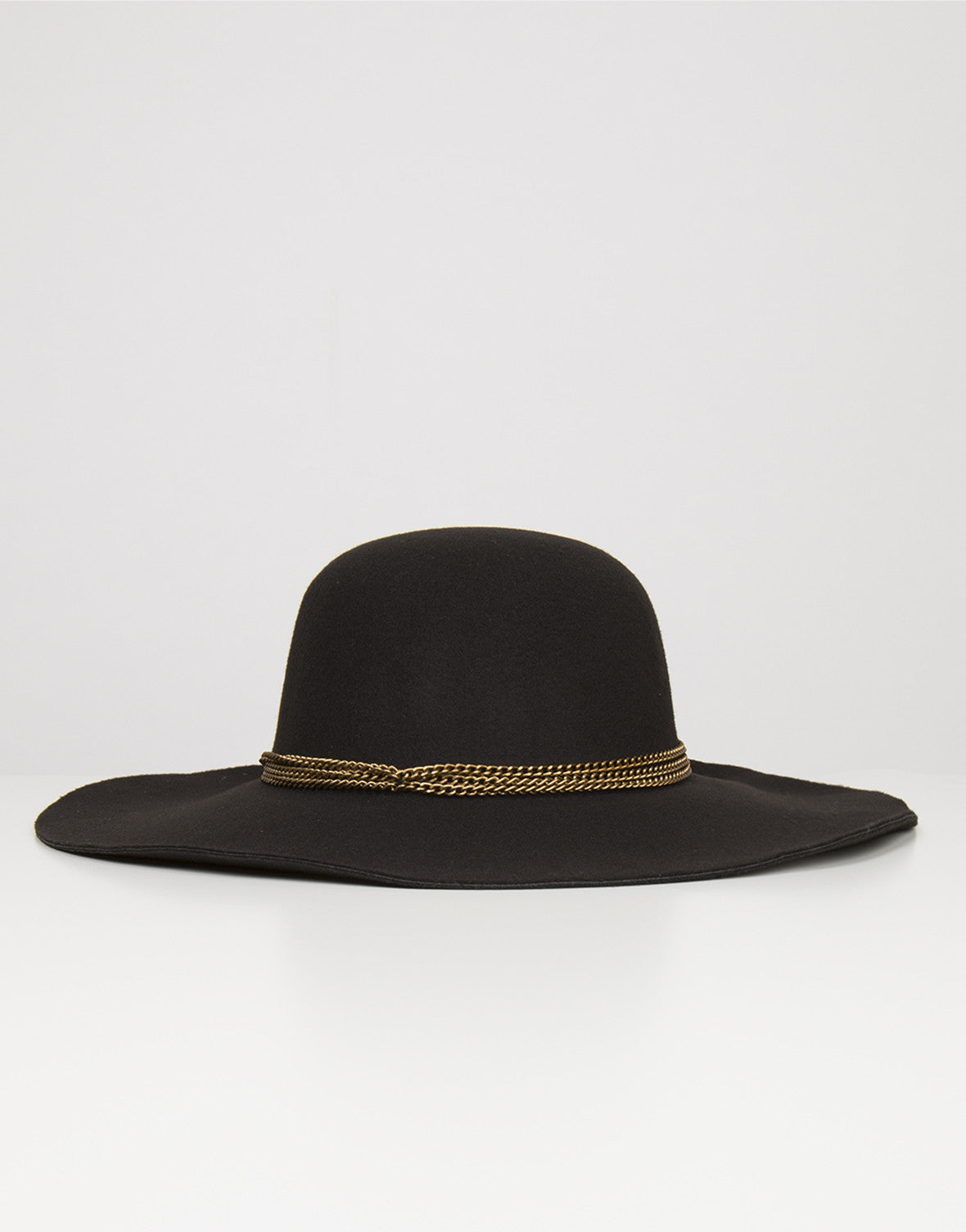 Front View of Chained Floppy Hat