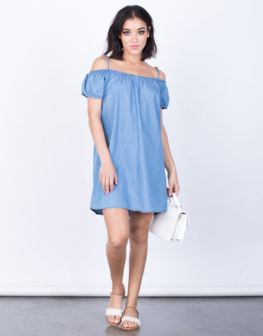 Front View of Chambray Days Dress