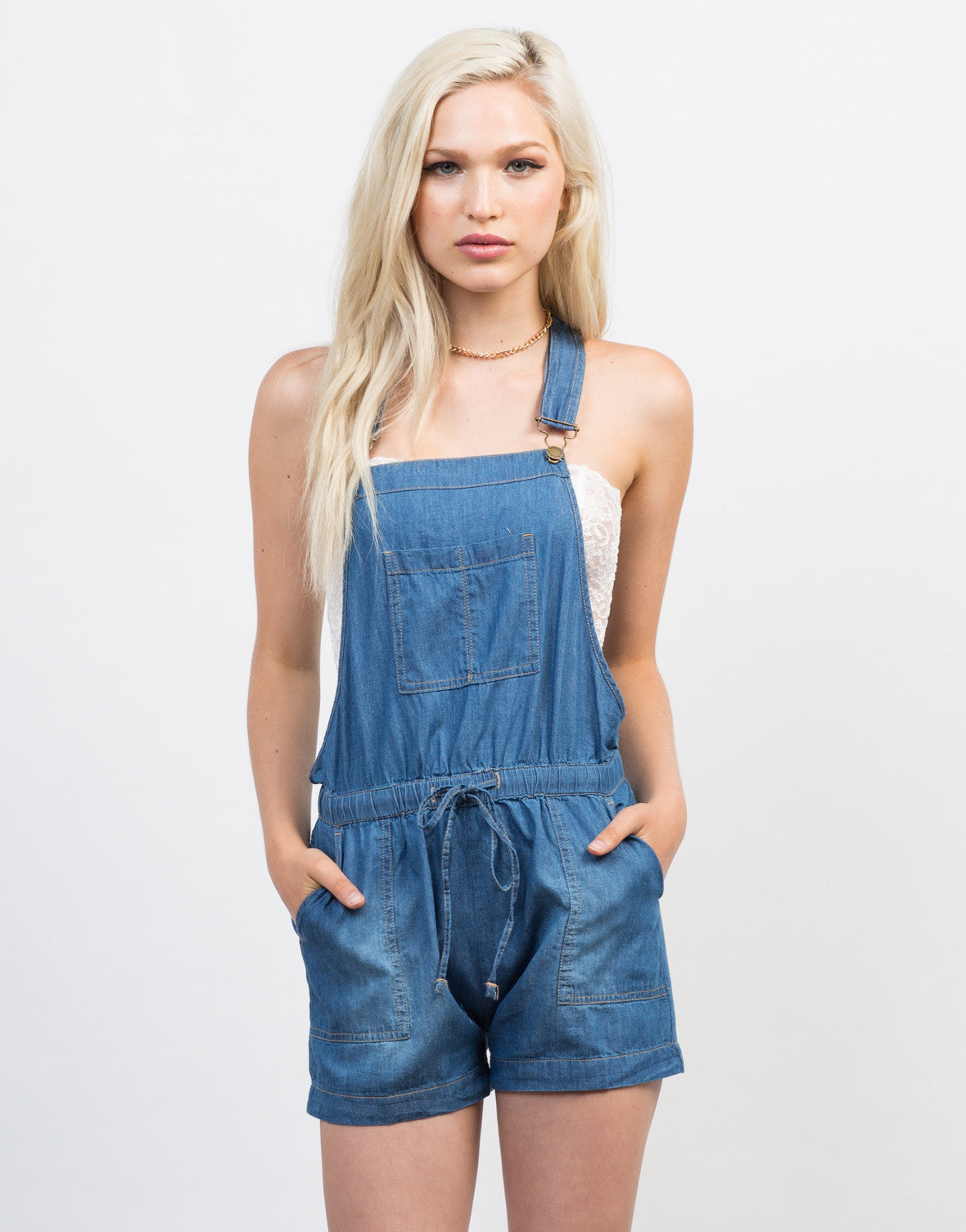 Chambray Shortalls