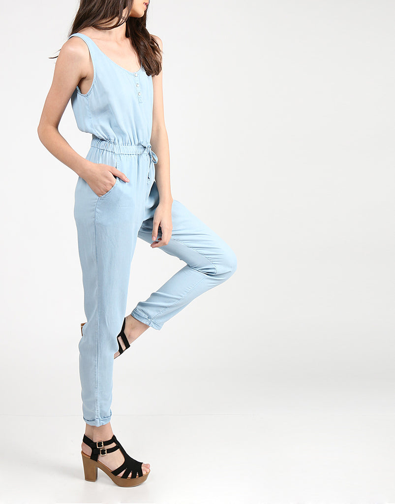 Chambray Jumpsuit Rompers + Jumpsuits -2020AVE
